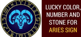 Lucky Color, Number and gemstone for Aries Sign