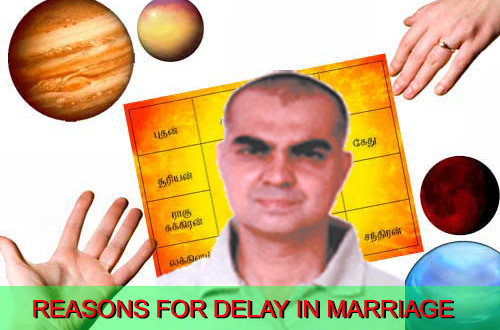Check Horoscope and find Reasons for Delay in Marriage