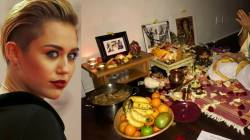 miley-cyrus-performs Lakshmi Puja