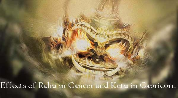 Transit of Rahu in Cancer and Ketu in Capricorn in 2017
