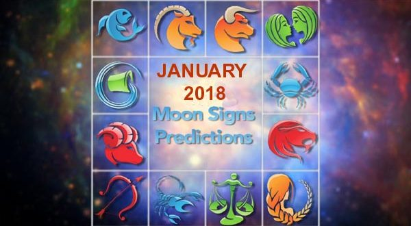 Moon Sign Horoscope Predictions – January 2018