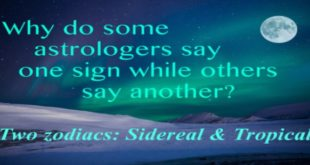 tropical vs sidereal zodiac