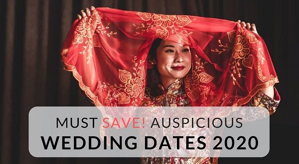 Auspicious and Lucky Marriage Dates in 2020