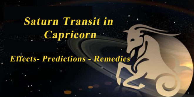 Transit Saturn in Capricorn